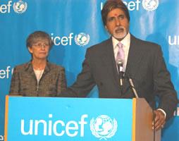 UNICEF Ambassador Amitabh Bachchan
