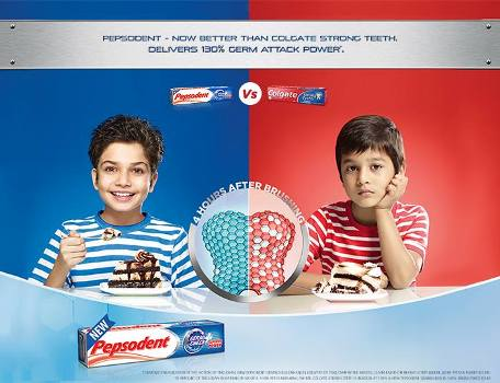 colgate vs pepsodent Pepsodent (marketing) 1 hindustan toothbrushes from pepsodent as well as colgate are priced rs30-40 oral-b, the main competitor in this field.