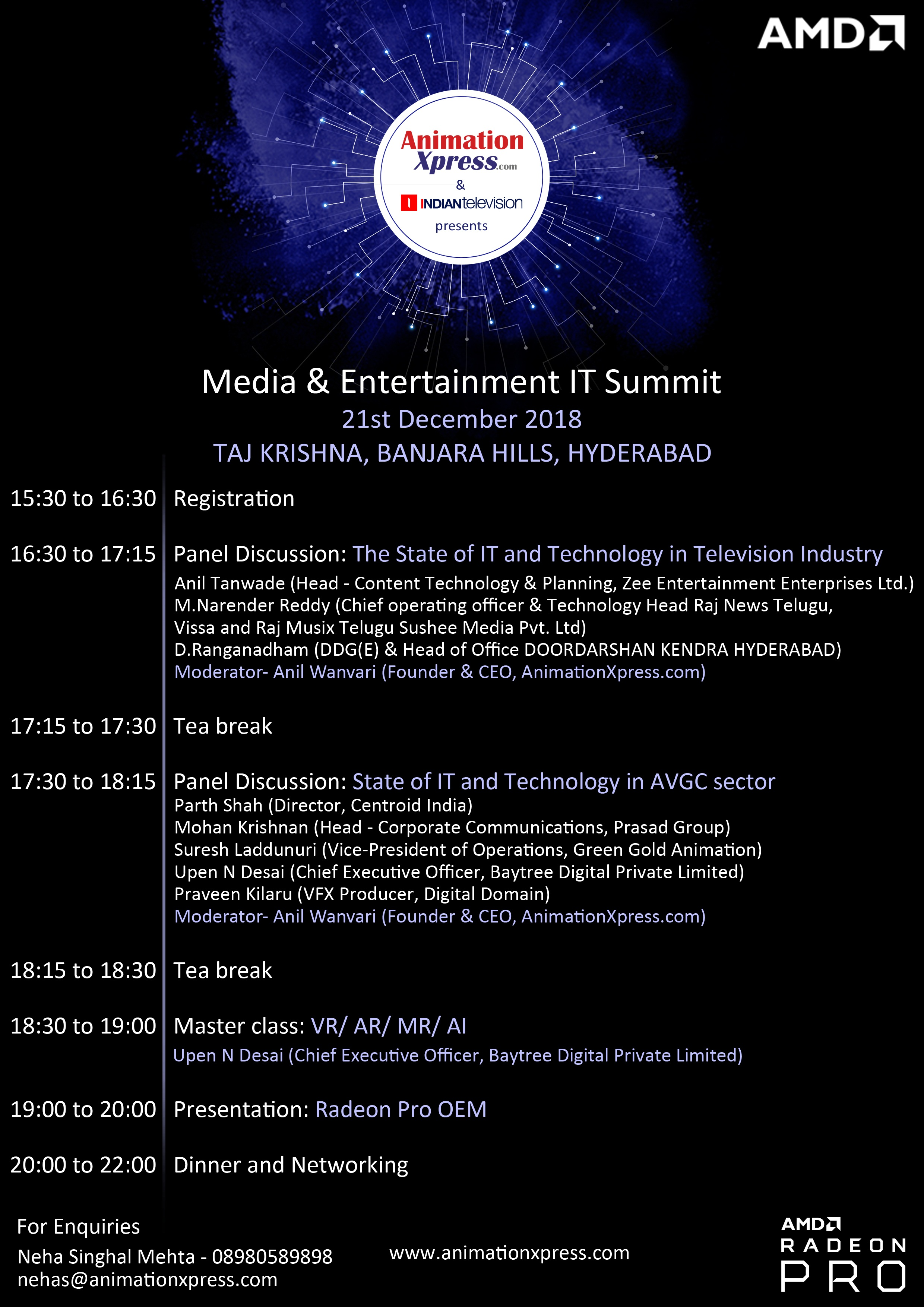 AnimationXpress announces Media & Entertainment IT Summit in