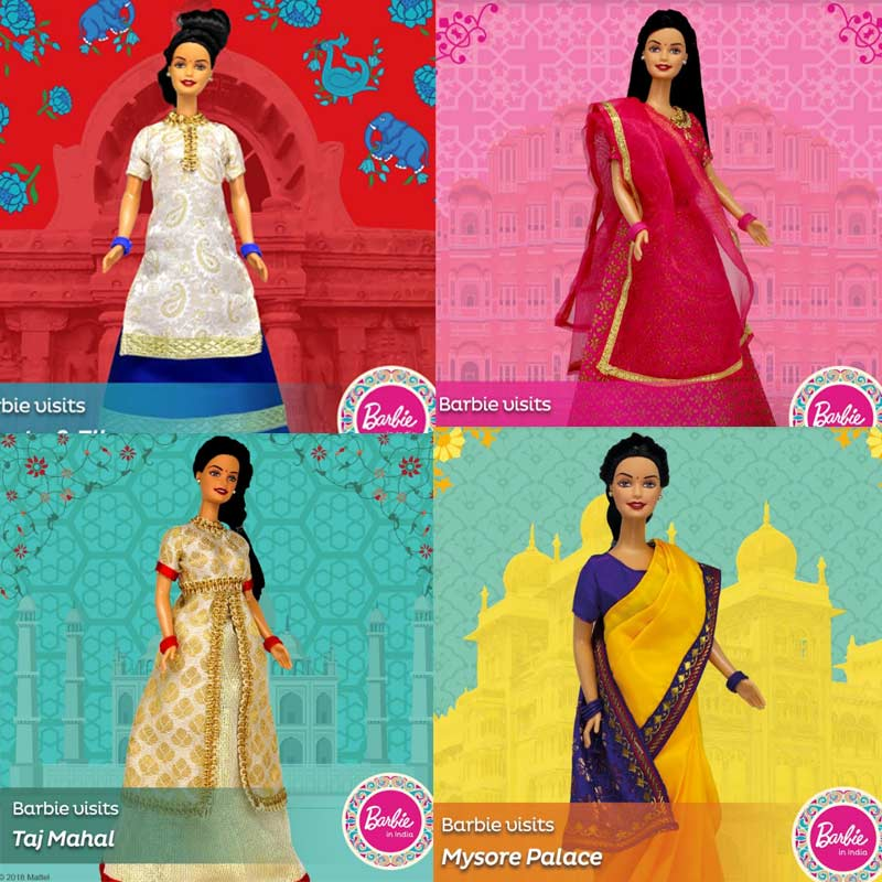 Barbie in India New Visits Ajanta Caves Barbie Mattel