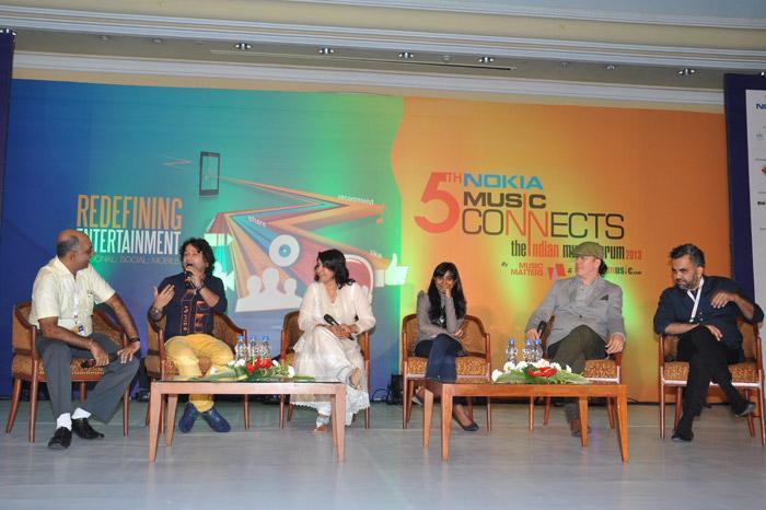 Bollywood - Crossing the divide panel - (L-R) Atul-Churamani, Kailash-Kher, Kavita-Seth, Shilpa-Rao, Andrew-T. Mackay & Ali-Sachedina