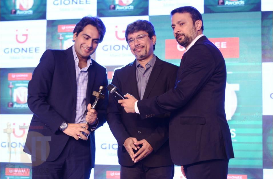 Sudhir Chaudhary the senior editor and business head of Zee News and hosts DNA, Indiantelevision.com group Founder/CEO & Editor in chief Anil Wanvari and Gionee India CEO & Managing Director Arvind R Vohra