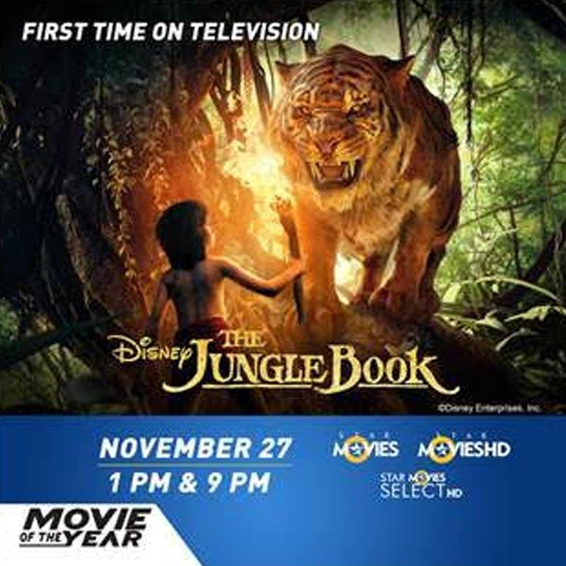 The Jungle Book' to premiere on three Star channels on 27