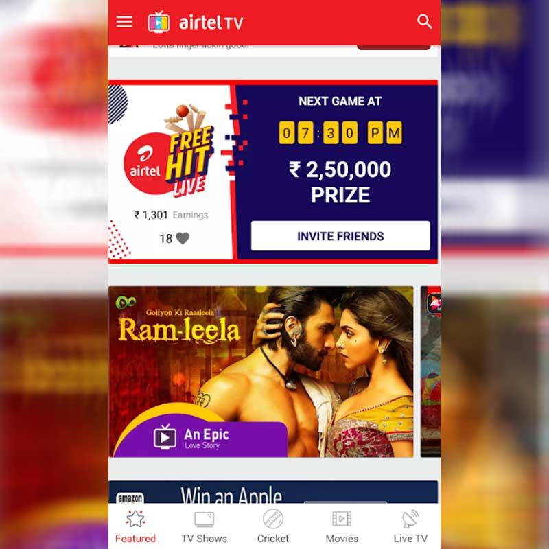 Airtel TV gamifies in-app experience for users with 'Airtel TV FREE