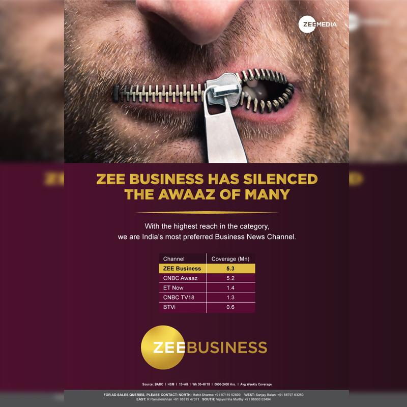 Zee Business Strengthens Programming Launches Campaign To Take Cnbc Awaaz Head On Indian Television Dot Com