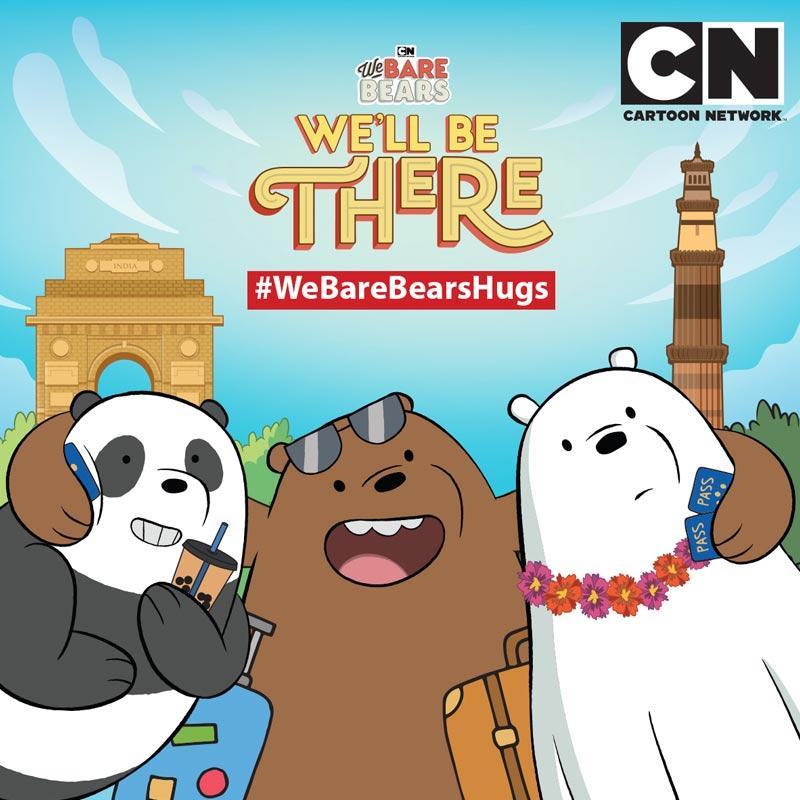 It's bear hug time as Cartoon Network's We bare bears visit