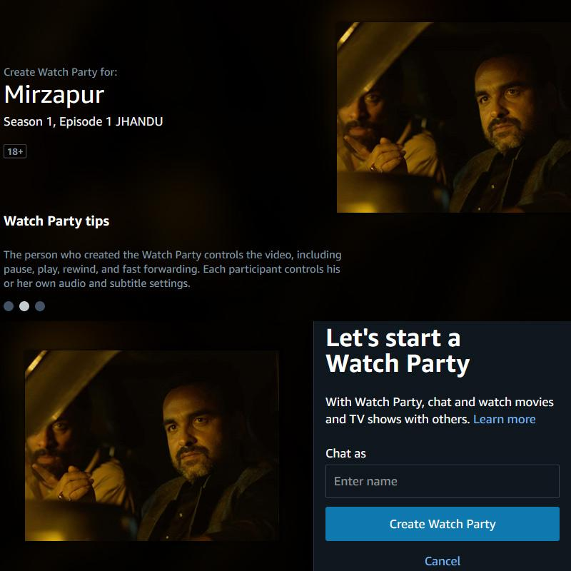Amazon adds Prime Video Watch Party feature for India users